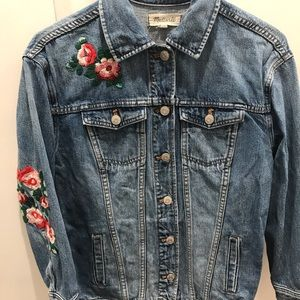 Madewell floral detail denim jacket